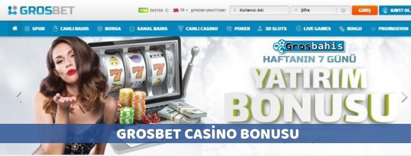Grosbet casino bonusu